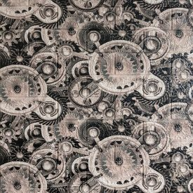 Самоклеющаяся декоративная 3D панель шестеренки 700x770x5 мм