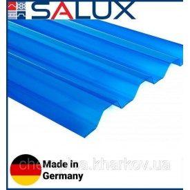 Прозрачный ПВХ лист Salux WHR 70/18 Синяя Трапеция 1,8х0,9