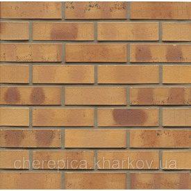 Клинкерный кирпич MUHR 06 К Светло-коричневый пестрый с углем