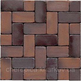 Клинкерная брусчатка MUHR 04SG Красно-коричневый оббитый пестрый Спец