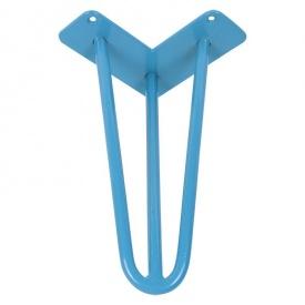 Ніжка меблева HAIRPIN Leg 3ROD Small һ36см, блакитна