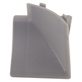 Бортик узкий Thermoplast внутренний угол серебро 909