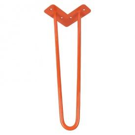 Ножка мебельная HAIRPIN Leg 2ROD Small h46см, оранжевая