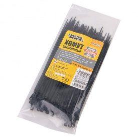Хомут пластиковый 2,5*150 мм черный, 100 шт
