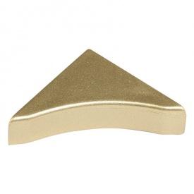Бортик узкий Thermoplast заглушка золото матовое 824