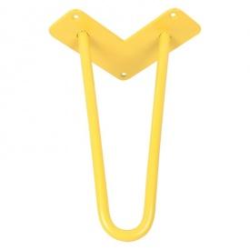 Ніжка меблева HAIRPIN Leg 2ROD Small һ36см, жовта