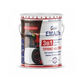 Грунт-емаль Gaia 3 в 1 по іржі 2,5 кг