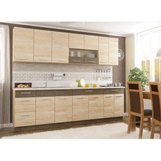 Модульна кухня Меблі-Сервіс Грета 2600 мм ДСП дуб-сонома