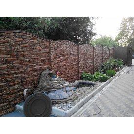 Еврозабор односторонний ЭКО Карпатский камень 2x0,5 м