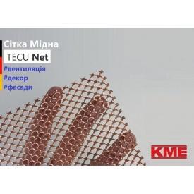 Перфорований плоский мідний лист сітка Tecu Net 0,7x1000x2000 мм