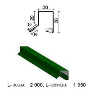 Парканний каптур ПК-10 1950/2000 мм зелений