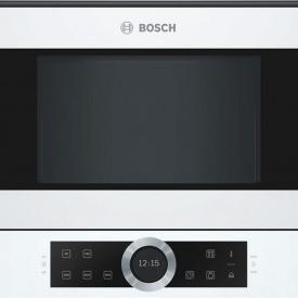 Встраиваемая микроволновая печь белая BFL634GW1 Bosch