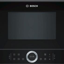 Встраиваемая микроволновая печь черная BFL634GB1 Bosch