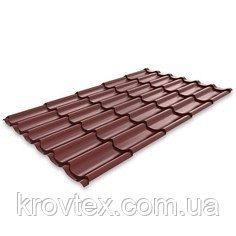Металлочерепица Monterrey Standard 0.45 мм 1100x1800 мм темно-коричневый (RR 32)
