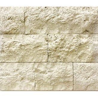 Облицювальний камінь Травертин Скеля 150х240х20 мм Шафран
