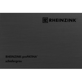 Титан-цинк Rheinzink prePATINA schiefergrau темно-серый 1,0х670 мм в рулонах
