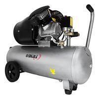 Компресор двоциліндровий 2.5 кВт 455 л/хв 10 бар 50 л 2 крана Sigma (7043721)