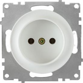 Розетка OneKeyElectro Florence без заземлення гвинтові контакти біла 1E10301300