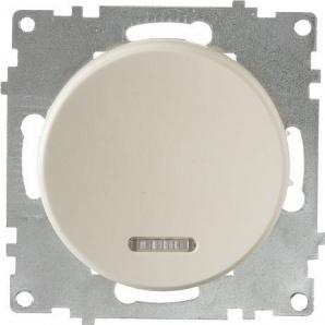 Выключатель OneKeyElectro Florence одинарный с подсветкой бежевый 1E31701301