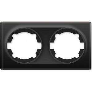 Рамка OneKeyElectro Florence двойная черная 1E52201303