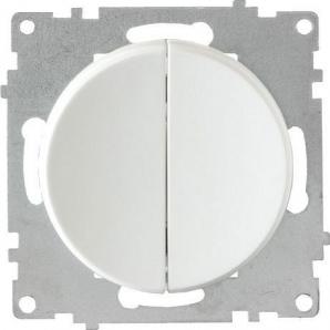 Выключатель OneKeyElectro Florence двойной бежевый 1E31501300