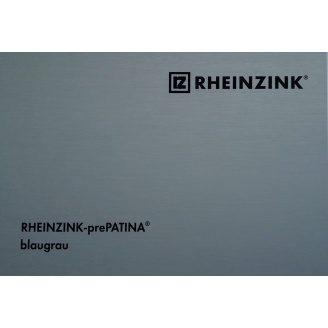 Титан-цинк Rheinzink Blaugrau 1мм 670 мм в рулонах