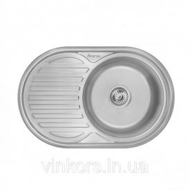 Кухонная мойка Imperial 7750 0,6 160мм decor из нержавеющей стали (9059)