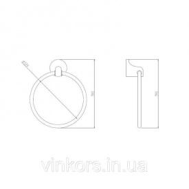 Держатель для полотенца кольцо GF CRM S- 2804 (22602)