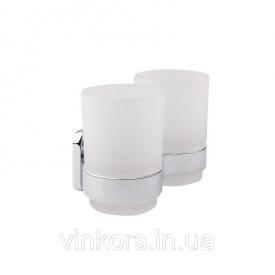 Подвійний склянку GF Italy CRM S - 2808 (22599) настінний + тримач щіток
