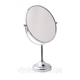 Зеркало косметическое Potato P763-8 для ванной комнаты увеличение х3, хром (26607)