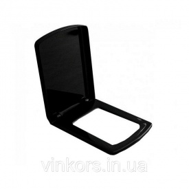 Сидіння з кришкою для унітазу VOLLE TEO (13-88-402black) slow-closing