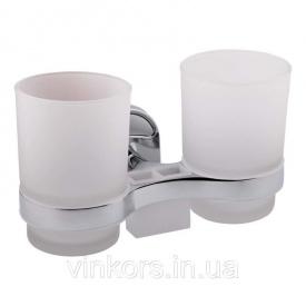 Двойной стакан стекло с держателем для щеток Potato P2908 (11932)