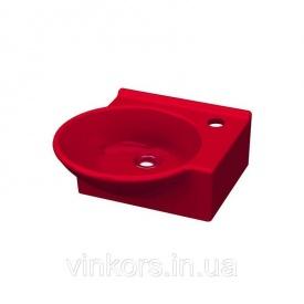 Умывальник накладной красный IDEVIT Myra Mini правый (0201-0365-08)
