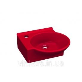 Умывальник накладной красный IDEVIT Myra Mini левый (0201-0367-08)