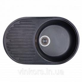 Мойка Fosto 74x46 SGA-420 черный (14020)