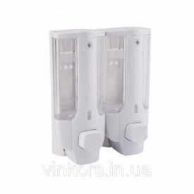 Дозатор для рідкого мила GF Italy CRM S - 404 (22671) подвійний пластик 350мл*2
