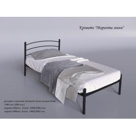 Односпальная кровать Маранта-мини Tenero 800х1900 мм черная металлическая