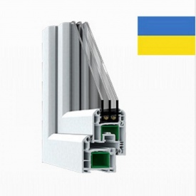 Оконный профиль STEKO S300 3 камеры 58х61,5 мм