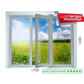 Вікно з 7-камерного профілю WDS Ultra7 1700x1400 мм з двокамерним енергозберігаючим склопакетом