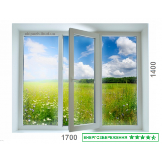 Вікно з 7-камерного профілю WDS Ultra7 1300x1400 мм з двокамерним склопакетом 40 мм