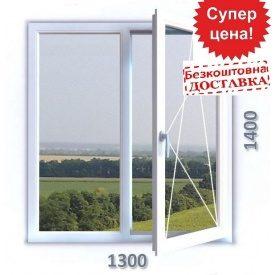 Вікно 1300x1400 мм 3-хкамерний профіль WDS TRIO