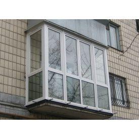 Французский балкон 3-камерный профиль WDS Classic 3240x2230 мм
