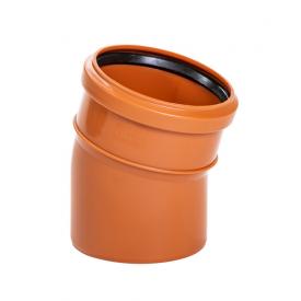 Коліно Зовнішньої каналізації 110 мм/15 градус