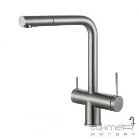 Смеситель для кухни комбинированный Fabiano FKM 31.14 SS 8231.401.0711 нержавеющая сталь