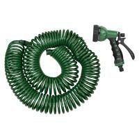 Набор поливочный шланг спиральный 30 м + пистолет распылитель 7-ми режимный Grad (5019085)