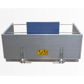 Жесткая платформа GEDA с откидными боковыми стенками (наклон платформы регулируется)