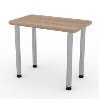 Кухонний нерозкладний стіл КС-9 Компаніт 726х900х550 мм ДСП дуб-сонома