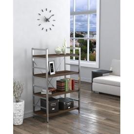 Стеллаж низкий офисный Loft design L-125 Серебро