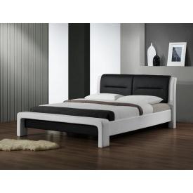 Кровать Halmar Cassandra 120х200 см Черно-белый