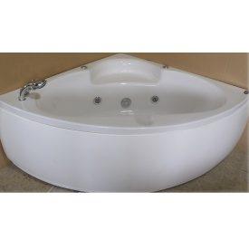 Ванна кутова з гідромасажем і пневмокнопкою 1400х1400х620 мм зі змішувачем